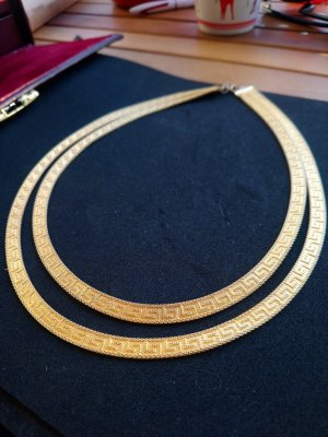 Versace Muster Kette Gold Farbe