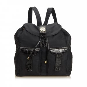 Versace Nylon Drawstring Backpack
