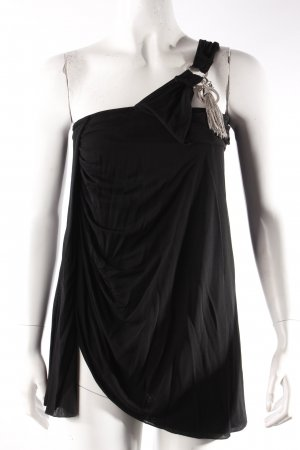 Versace One-Shoulder-Top schwarz
