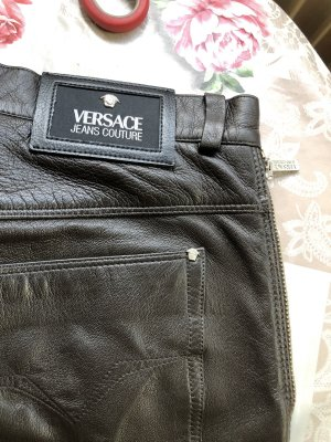 Gianni Versace Leather Trousers black