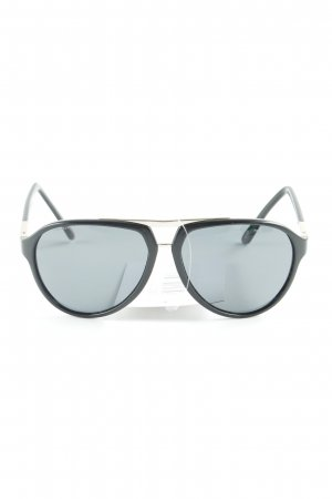 Versace Oval Sunglasses black casual look