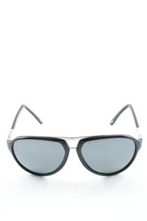 Versace ovale Sonnenbrille schwarz Casual-Look