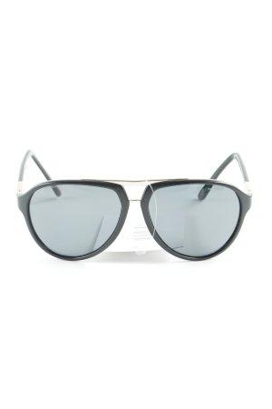 Versace Occhiale da sole ovale nero stile casual