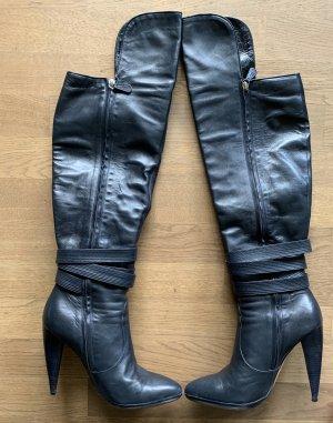 Versace Overknee Stiefel Dunkelblau Gr. 42