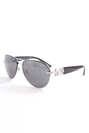 Versace Pilot Brille silberfarben-schwarz Casual-Look