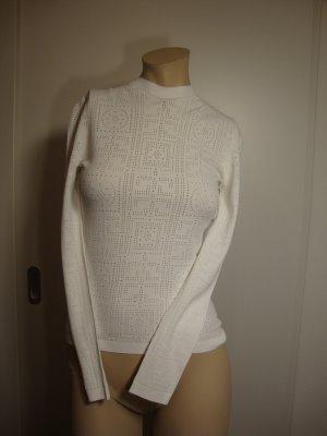 Versace Maglione girocollo bianco Tessuto misto