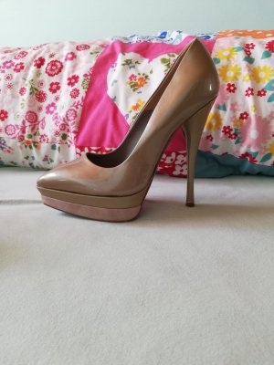 Versace High-Front Pumps sand brown