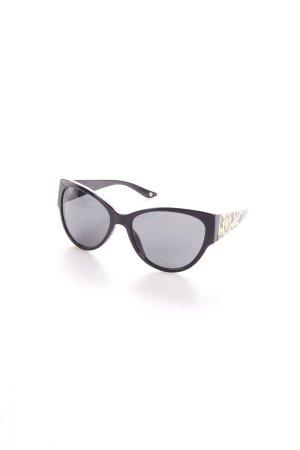 Versace Retro Brille schwarz-goldfarben 50ies-Stil