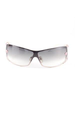 Versace Occhiale stile retro nero-rosa pallido look retrò