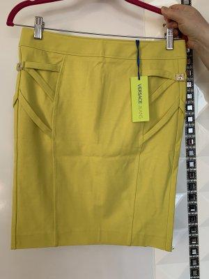 Versace Jeans Pencil Skirt neon yellow