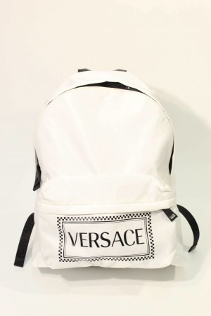 Versace Laptop Backpack white polyamide