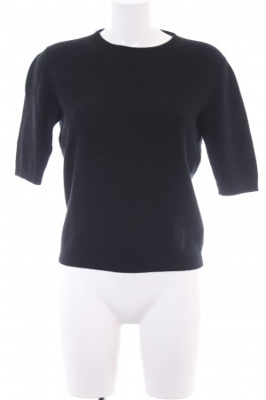 Versace Maglione girocollo nero stile professionale
