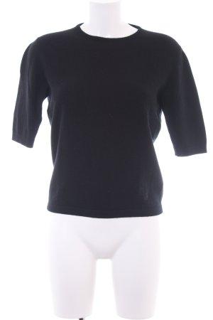 Versace Rundhalspullover schwarz Business-Look