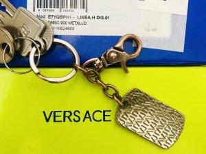 Versace Porte-clés argenté-noir