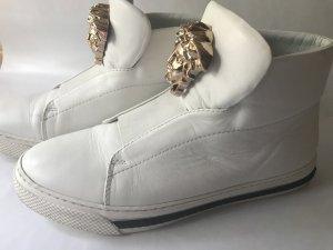 Versace Sneaker alta bianco Pelle