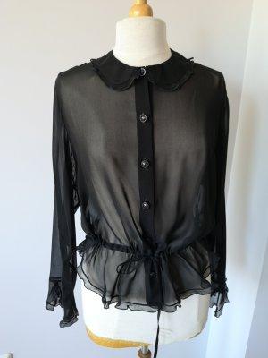 Versace Blusa in seta nero