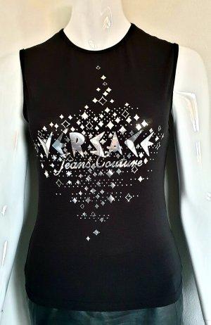 Versace Canotta nero-argento