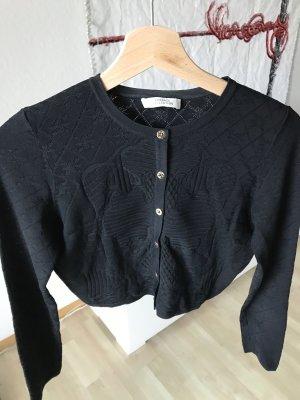 Versace Bolero lavorato a maglia nero