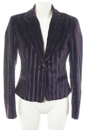 Versace Blazer smoking lilla motivo a righe elegante