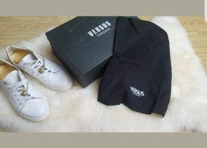 Versace Sneaker stringata bianco-oro Pelle
