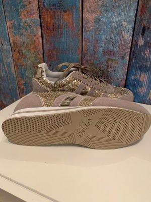 Versace Jeans Sneaker stringata crema-oro