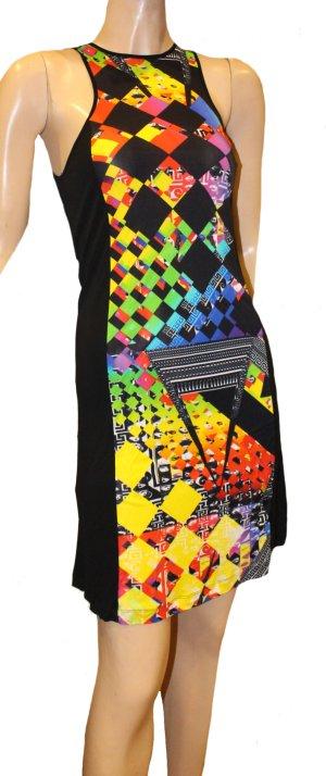 VERSACE Sommer Kleid schwarz bunt Gr. 36 stretch