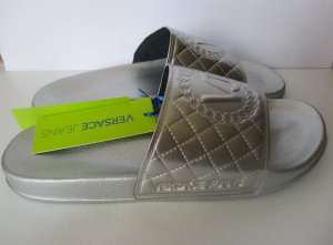 Versace Sandalo infradito argento Tessuto misto