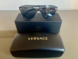 Versace Oval Sunglasses black-gold-colored