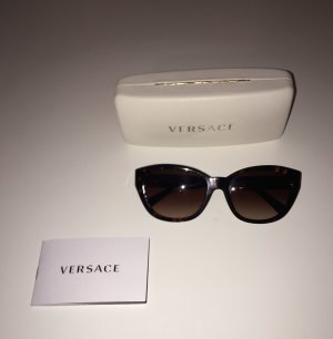 Versace Angular Shaped Sunglasses brown-gold-colored