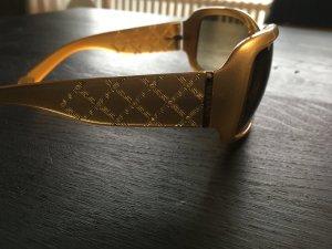 Versace Sonnenbrille Gold/beige mit Schmucksteinchen  im breiten Bügel