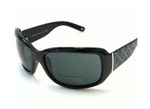 Versace Occhiale da sole spigoloso nero
