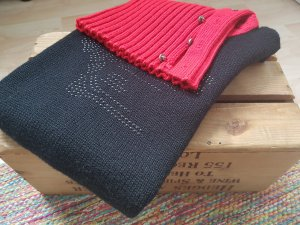 Versace Top nero-rosso mattone