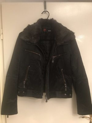 Versace Collection Giacca di pelliccia nero