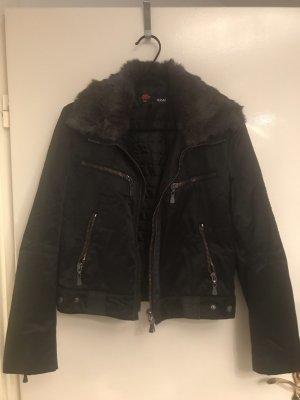 Versace Collection Chaqueta de piel negro