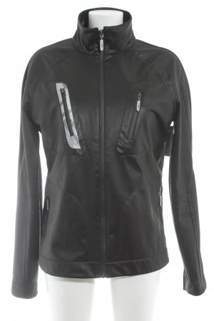 Versace Giacca sport nero-grigio chiaro caratteri stampati stile atletico