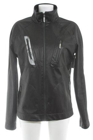 Versace Sportjacke schwarz-hellgrau Schriftzug gedruckt sportlicher Stil