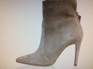 Versace Stiefelette Stiefel, Wildleder Gr.40 silber Neu