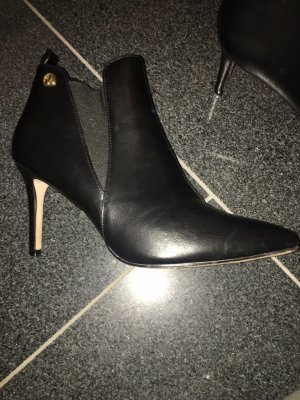 VJC Versace Slip-on Booties black-gold orange