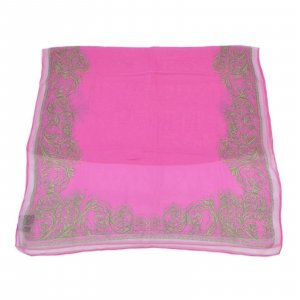 Versace Knitted Scarf pink silk