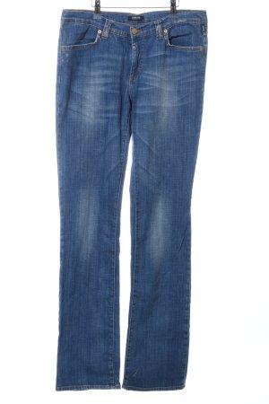 Versace Jeans a gamba dritta blu-bianco stile casual