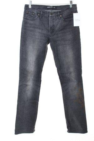 Versace Straight-Leg Jeans dunkelgrau Casual-Look