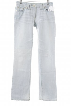 Versace Straight-Leg Jeans hellblau Used-Optik