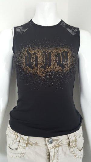 Versace , Stretch - Shirt , Tanktop  Shirt , Spitze ,Gr.S