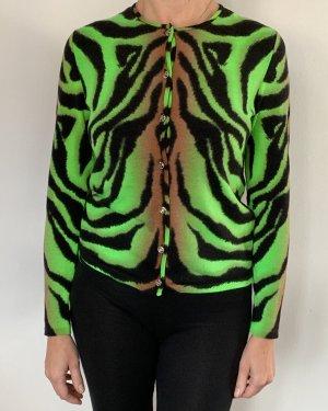 Versace Giacca in maglia multicolore