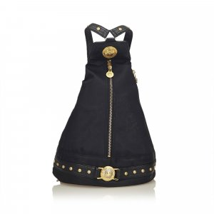 Versace Studded Nylon Backpack