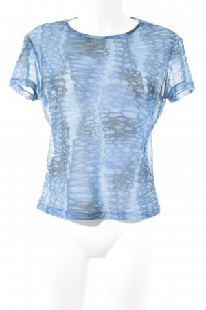 Versace T-shirt blu-azzurro motivo animale impronta animale