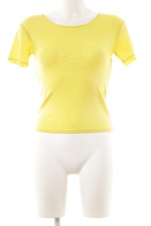 Versace T-Shirt gelb Casual-Look