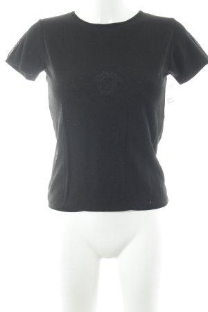 Versace T-Shirt schwarz schlichter Stil