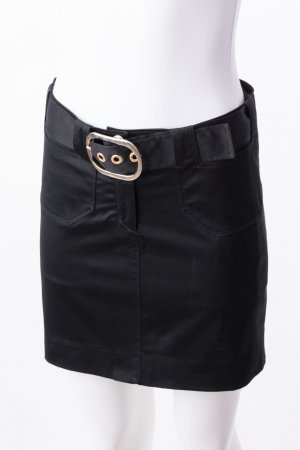 Versace High Waist Skirt black-gold-colored cotton