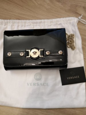 Gianni Versace Shoulder Bag black-gold-colored